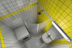 Проект ремонта маленькой ванной с душевой кабиной