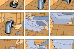 Пошаговая схема установки унитаза