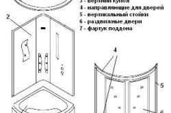 Схема монтажа закрытой душевой кабины