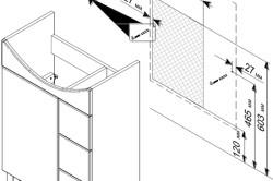 Схема установки тумбы под мойку