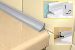 Схема установки наружного уголка между ванной и стеной