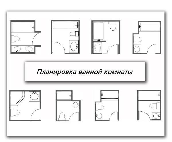 Примеры планировки ванной