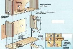 Схема сборки шкафчика для ванной