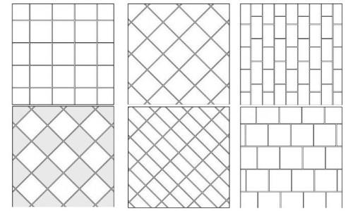 Способы укладки мозаичной плитки