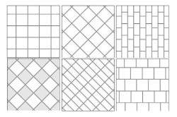 Варианты укладки керамической плитки в ванной
