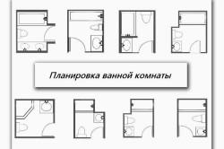 Варианты расстановки сантехники в ванной комнате
