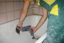 Подготовка ванны перед покраской