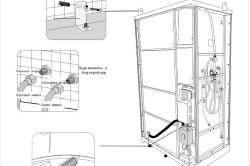 Схема подключения к водопроводу и герметизация душевой кабины