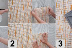 Первая часть этапов укладки мозаики