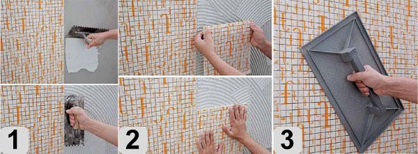 этапов укладки мозаики