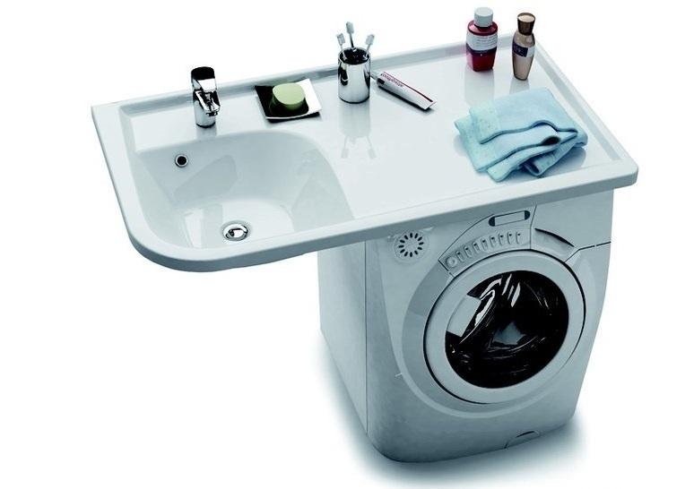 Раковина над стиральной машиной своими руками