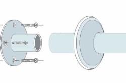 Схема угловой штанги для шторы в ванную