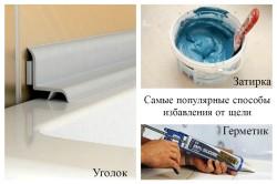 Способы заделки щели между ванной и стеной