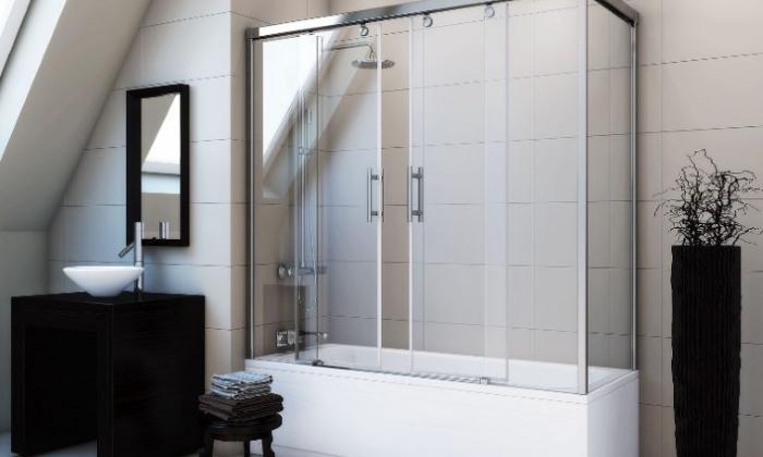 Раздвижная шторка в ванной