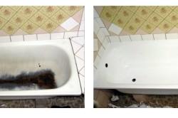 Вид ванной до и после эмалировки