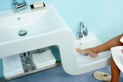 Современный санузел в ванной комнате