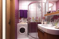 Ванная комната со стиральной машинкой