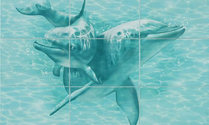 Кафельная плитка с дельфинами
