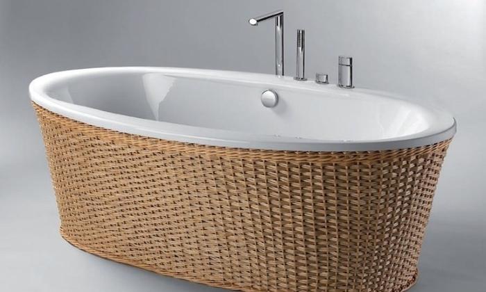 Ванна в виде плетенной корзинки
