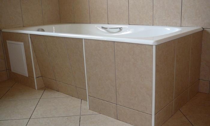 Экран под ванну из гипсокартона