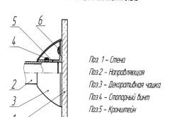 Схема узла крепления карниза