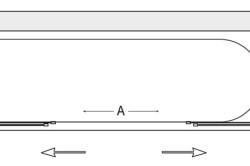 Принцип открытия шторы купе