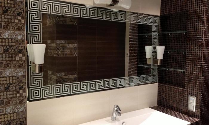 Роспись зеркала в ванной